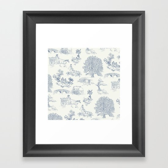 Shire Toile Framed Art Print
