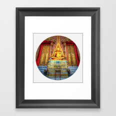 Sitting Buddha (Circle) Framed Art Print