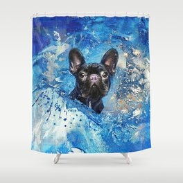 French Bulldog -Frenchie Dog Shower Curtain