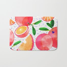 Citrus Love #digitalart #citrus Bath Mat