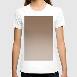 Brown to Pastel Brown Horizontal Linear Gradient T-shirt