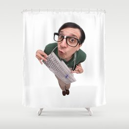Computer Nerd Shower Curtain