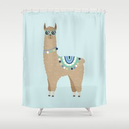 Super Cool Llama Shower Curtain