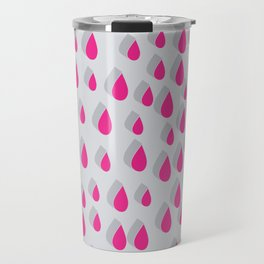 3D Water Drops II Travel Mug