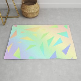 Pastel Gradient Design with Pastel Ombre Triangles! Rug