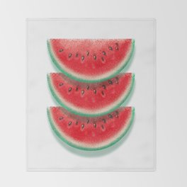 Slices of watermelon Throw Blanket