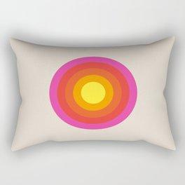 Colored Retro Circle 02 Rectangular Pillow