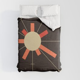 paper sun || charcoal Comforters