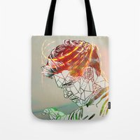 niall Tote Bags featuring Geometric Niall by Peek At My Dreams