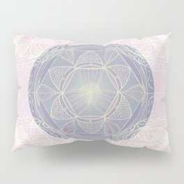 Mandala Pattern in Pastel Pink and Lilac Pillow Sham