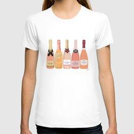 Rose Champagne Bottles T-shirt