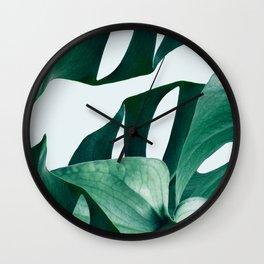 Monstera #society6 #artprints #buyart Wall Clock