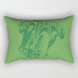 Motorcycle Board Track Racer 2 Rectangular Pillow