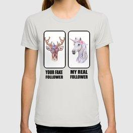YouTube Influencer Unicorn Motif Gift Idea T-shirt