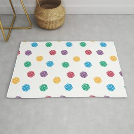 Mana Spin-downs - Red, Yellow, Green, Blue & Purple Rug
