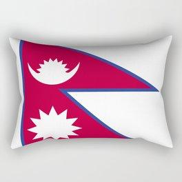 Nepal flag emblem Rectangular Pillow