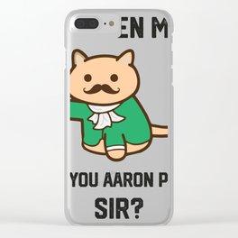 The Hamilton Cat Clear iPhone Case