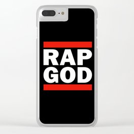 RAP GOD Clear iPhone Case