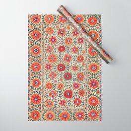 Kermina Suzani Uzbekistan Embroidery Print Wrapping Paper