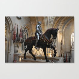 Knight on Horse, Windsor Castle, England, United Kingdom Canvas Print