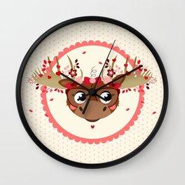 Tête de caribou Wall Clock