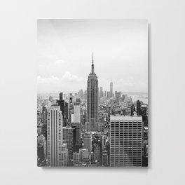 New York City Skyline Black And White Photography New York City Wall Art Decor Metal Print