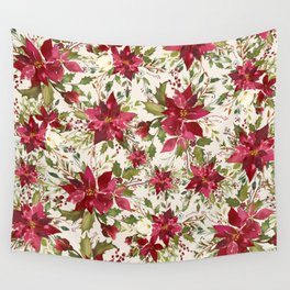 POINSETTIA - FLOWER OF THE HOLY NIGHT Wall Tapestry