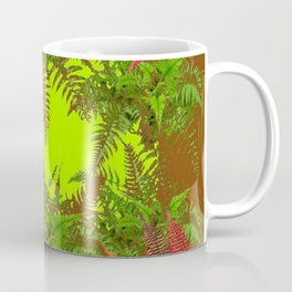 DECORATIVE GOLDEN BROWN FERN GARDEN ART Coffee Mug