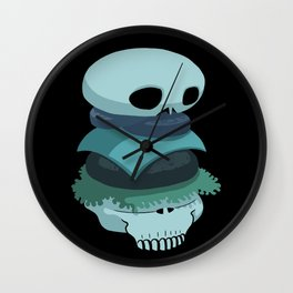 Skull Burger Wall Clock