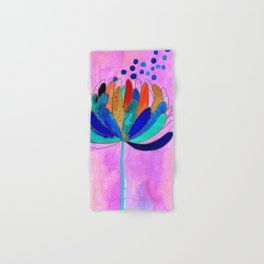 Release - Original Watercolour and Ink Painting from the Garden Hand & Bath Towel