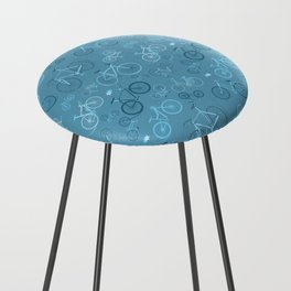 I love bikes in teal Counter Stool