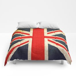 Vintage Union Jack British Flag Comforters