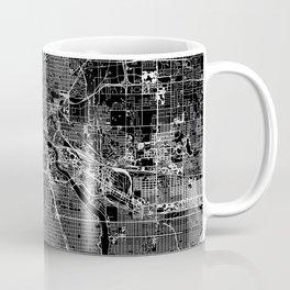 Minneapolis Black Map Coffee Mug