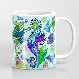 Marine Life Exotic Fishes & SeaHorses Ornamental Style Coffee Mug
