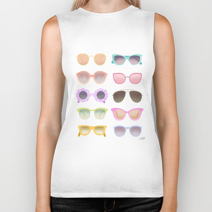 Colorful Sunglasses Biker Tank