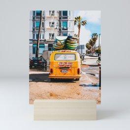 Combi van surf 3 Mini Art Print