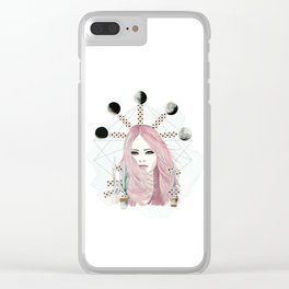 Moons Clear iPhone Case
