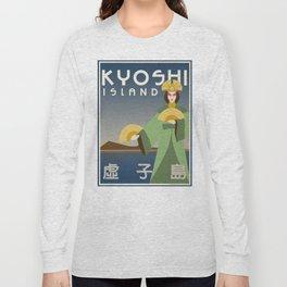 Kyoshi Island Travel Poster Long Sleeve T-shirt