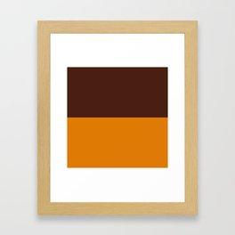Choc Caramel Framed Art Print