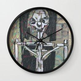 Esquelet de moix amb cos de fustes Wall Clock