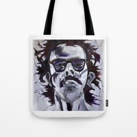 chuck Tote Bags featuring Chuck Close by Susie (Zsuzsi) Czompo