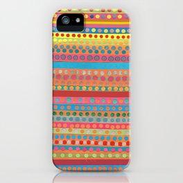 Fusion Multi Dots & Stripes iPhone Case