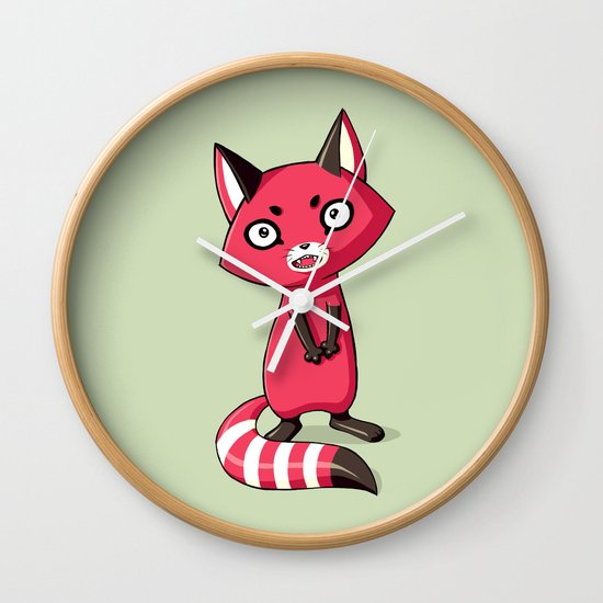 Shy Raccoon Wall Clock