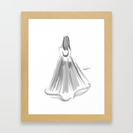 Moving B(l)ackward Framed Art Print