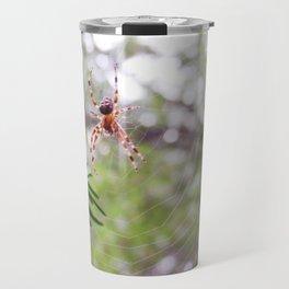 orb weaver spider and bokeh Travel Mug