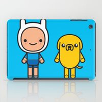finn and jake iPad Cases featuring #48 Jake and Finn by Brownjames Prints