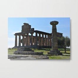 paestum i templi Metal Print