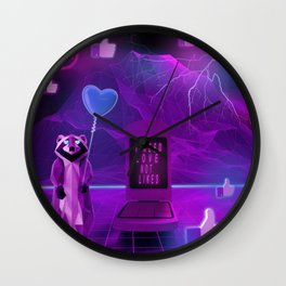 I need Love not Likes Wall Clock
