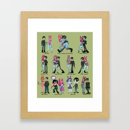Bibi and Chip in Different Art Styles Framed Art Print