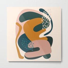 Boho Mid Century Modern Abstract Metal Print